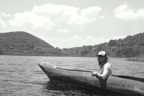 A workout in direct sunlight. A two hour trip using dugout canoes to reach our local guides in Uganda